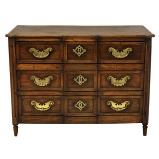 An 18th Century French Provincial Commode in Oak With Fine Metal Work For Sale