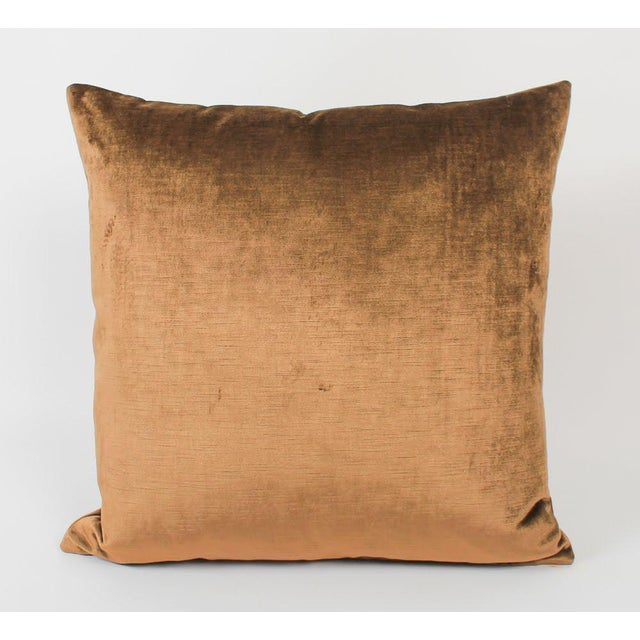 Espresso Velvet Greek Key Pillows, Pair For Sale In Atlanta - Image 6 of 7