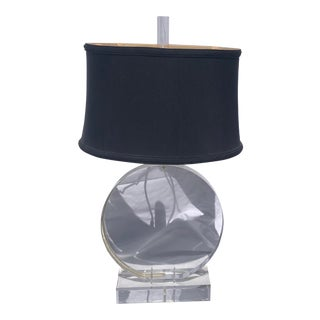 Vintage 70's Handmade Lucite Lamp For Sale