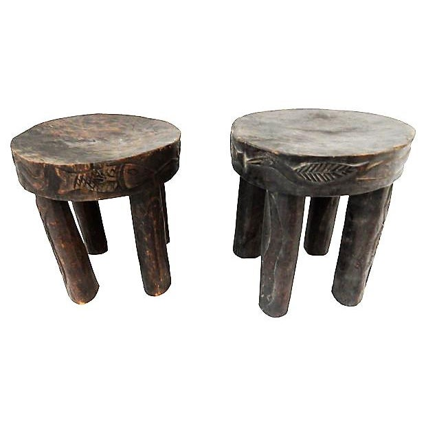 Hehe Gogo Tanzania Milk Stools - A Pair For Sale - Image 4 of 7