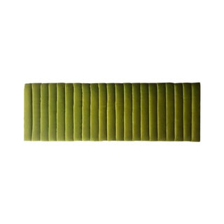 Mid-Century Modern Green Velvet Channeled Headboard For Sale