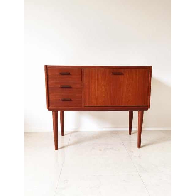 Vintage Danish Modern Teak Mini Chest Cabinet - Image 2 of 7