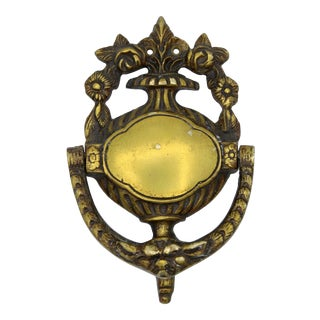 Antique French Brass Door Knocker For Sale