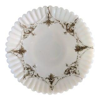 Late 19th Century Antique Victorian Milk Glass Plate
