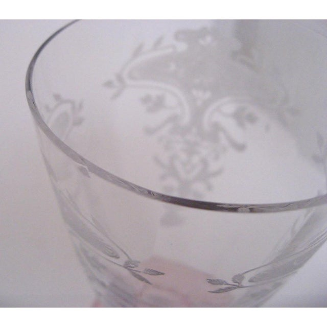 Etched Fluted Glasses - Set of 6 - Image 6 of 6