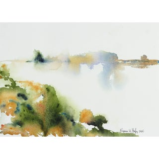 Alysanne McGaffey Abstracted Bay Area Landscape in Watercolor, 2004 2004 For Sale