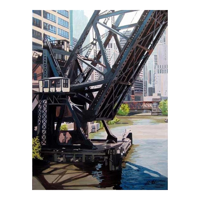 The Kinzie St Railroad Bridge Print For Sale