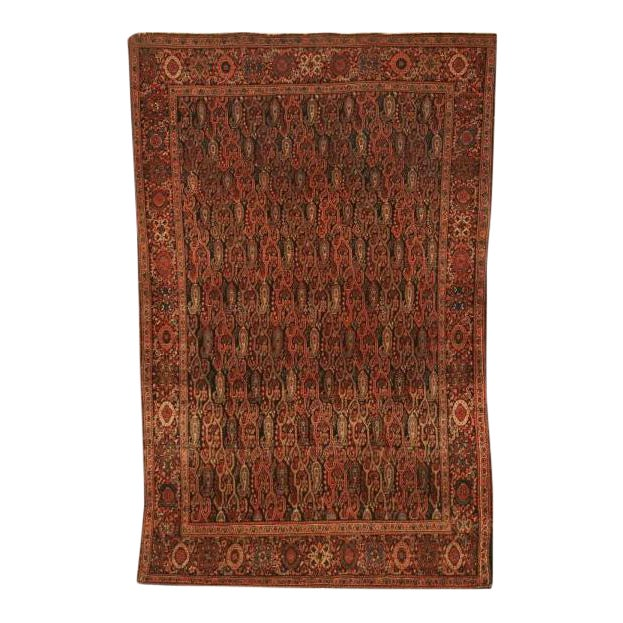 Antique Persian Bidjar Rug - 4′ × 6′4″ For Sale