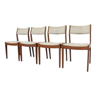 Set of 4 Mid-Century Danish Modern Teak Dining Chairs For Sale