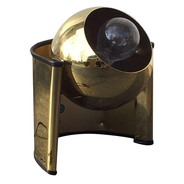 "Mid-Century Brass ""Eyeball"" Spotlight Lamp - Image 6 of 7"