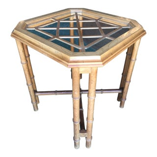 Vintage Herman Faux Bamboo Fretwork Table Base For Sale