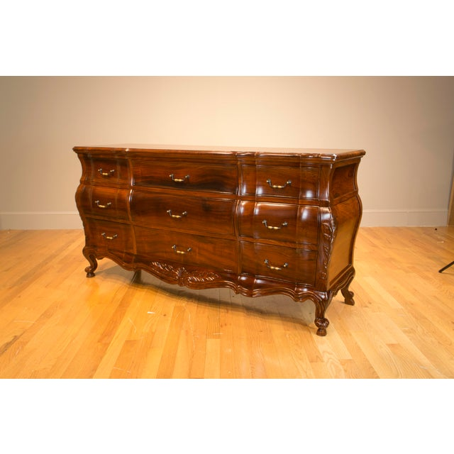 A clean and classy credenza inspired by the 18th century designs. The bombe shape was used by Chippendale on some of his...