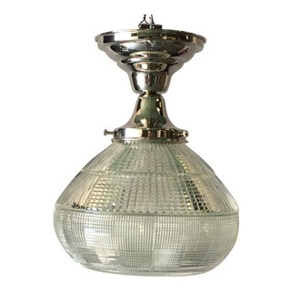 Art Deco Holophane Kitchen or Bath Light (Four Available) For Sale