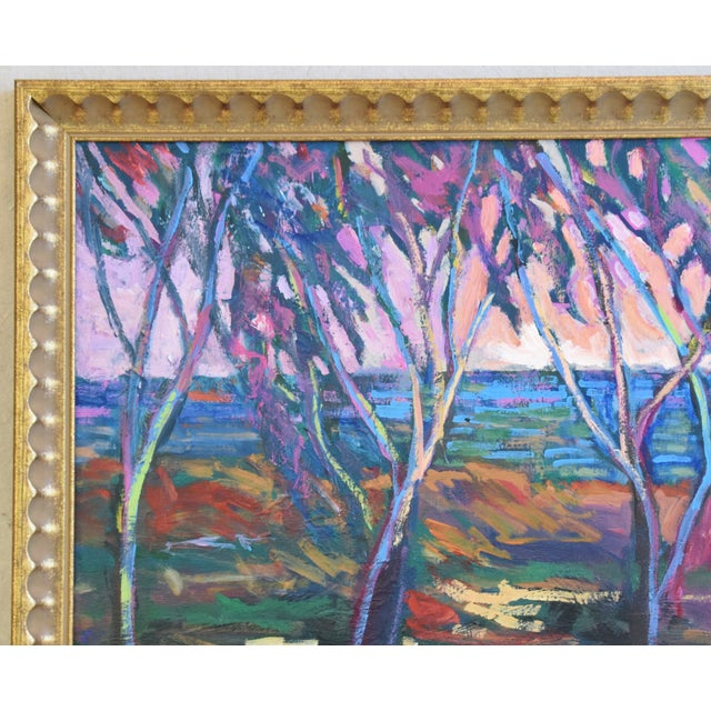 American Santa Barbara California Impressionist Landscape Seascape Painting by Juan Guzman For Sale - Image 3 of 9