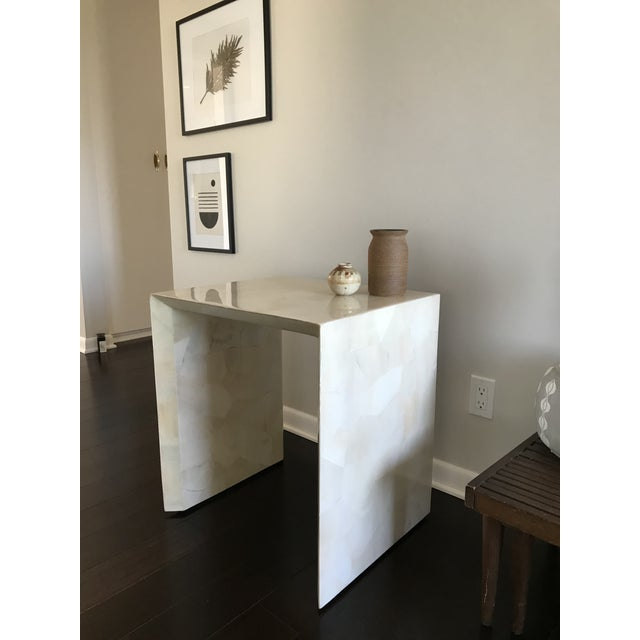 Modern Made Goods Sleek Faux Horn Side Table For Sale - Image 11 of 13