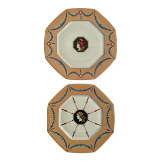 1980s Neoclassical Charles Field Haviland Limoges French Revolution Bicentennial Plates - a Pair For Sale