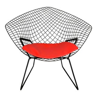 Harry Bertoia for Knoll Mid-Century Modern Diamond Chair With Red Seat C. 1952 For Sale