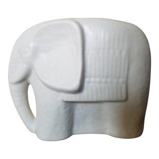 Mid Century Ceramic White Elephant For Sale