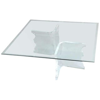 Charles Hollis Jones Lucite Coffee Table For Sale