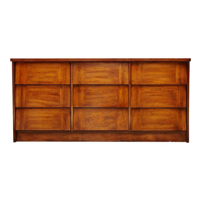 Modern Nine Drawer Low Boy Dresser For Sale