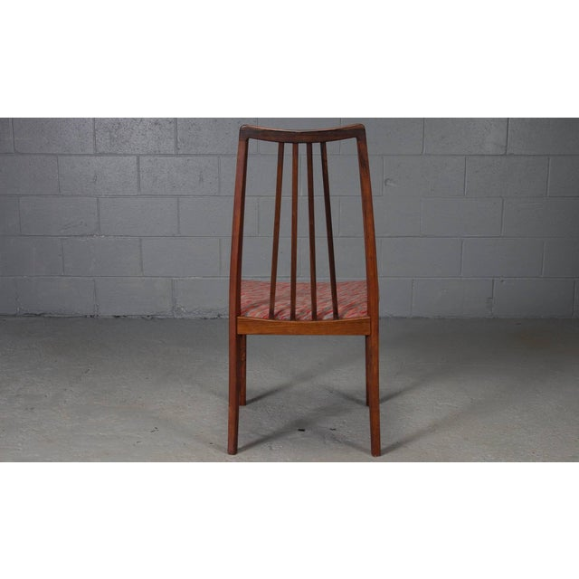 Danish Rosewood High Back Dining Chairs- Set of 4 For Sale In Boston - Image 6 of 8