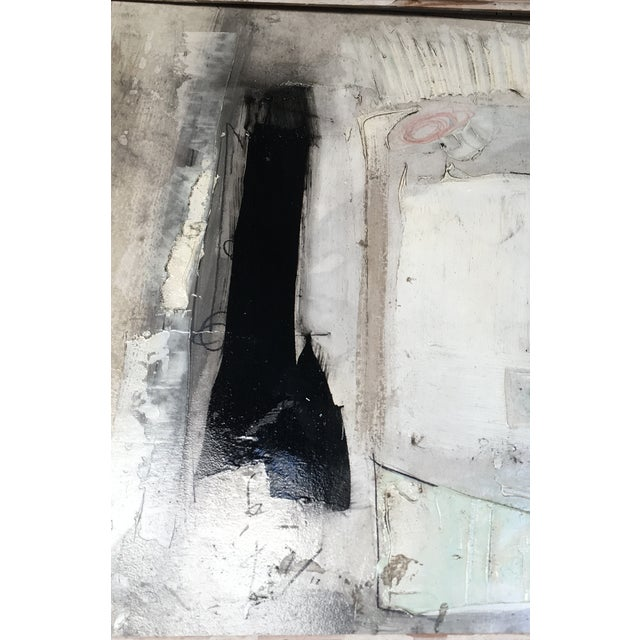 1960s Black & White Abstract Painting - Image 3 of 9