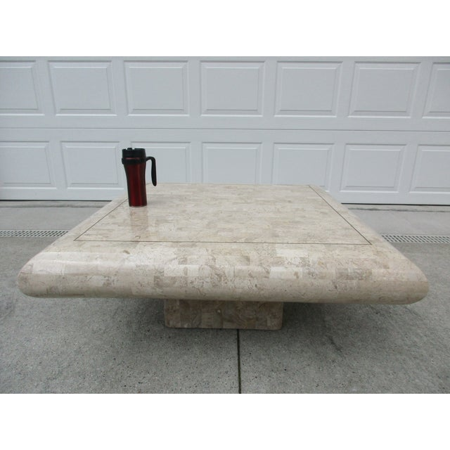 Tessellated Stone Coffee Table for Mission Furniture Los Angeles For Sale - Image 10 of 11