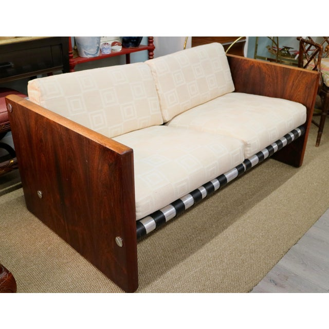 Milo Baughman Sling Sofa in Rosewood For Sale In New York - Image 6 of 6