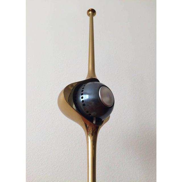 Arredoluce Angelo Lelli Cobra Lamp for Arredoluce, in Brass, 1964 For Sale - Image 4 of 9