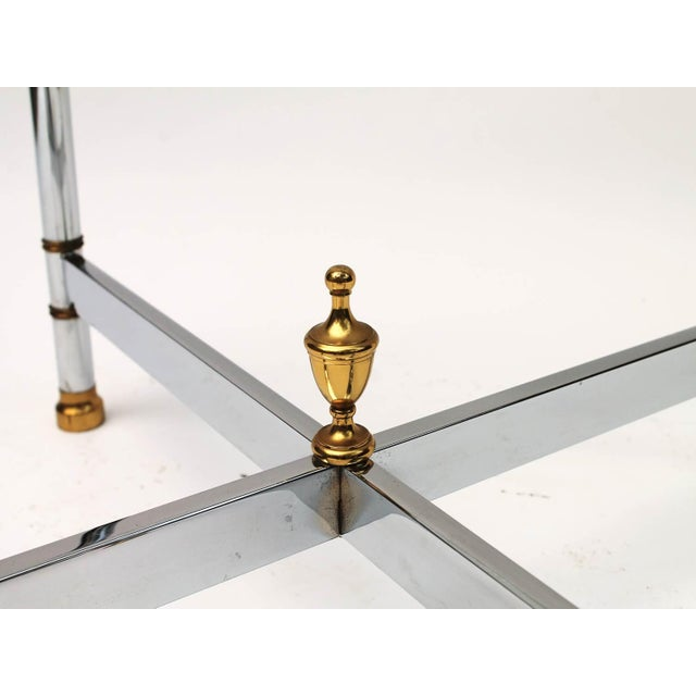 Petite Brass & Steel Side Table - Image 5 of 8