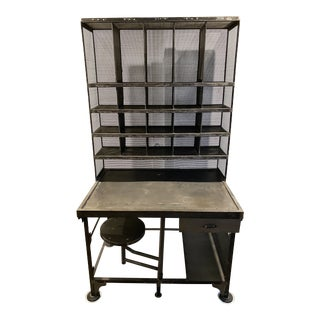 1930s Style Antique French Postal Desk For Sale