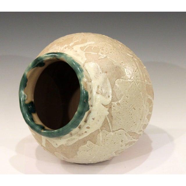 Vintage Awaji Pottery Large Japanese Jar Dripped and Splashed Glaze Vase For Sale - Image 4 of 9