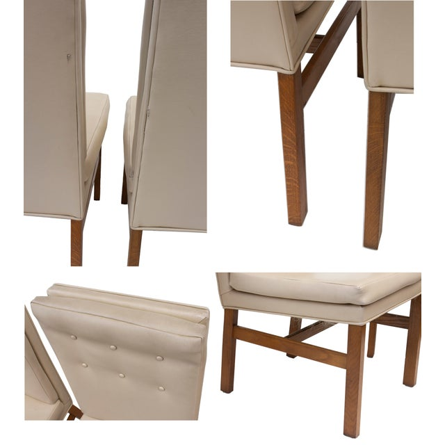 Johnson Furniture Tufted Dining Chairs - Set of 4 For Sale - Image 10 of 12