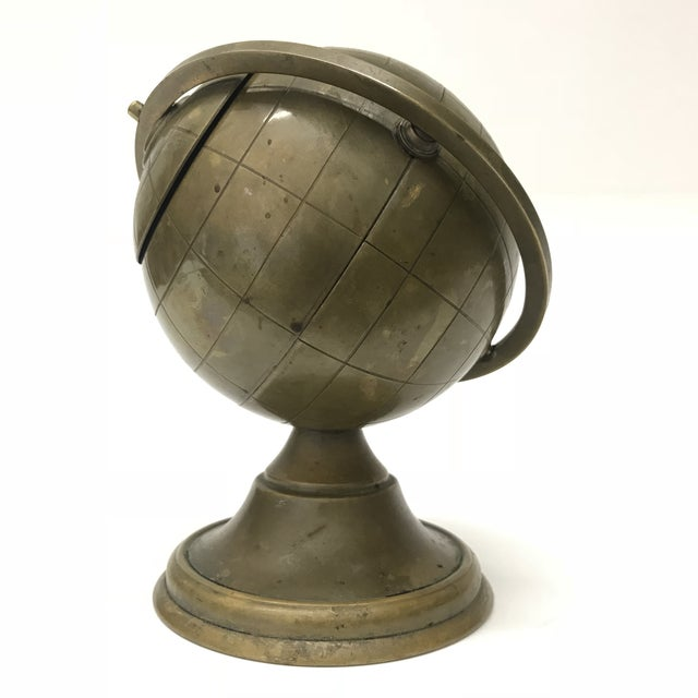 Vintage Brass Globe Ashtray - Image 4 of 5