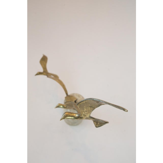 Brutalist Mid Century Brass Brutalist Birds in Flight Sculpture For Sale - Image 3 of 7