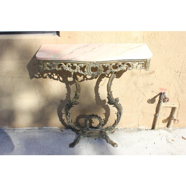 1900s French Louis XVI Bronze Console Table For Sale - Image 12 of 13