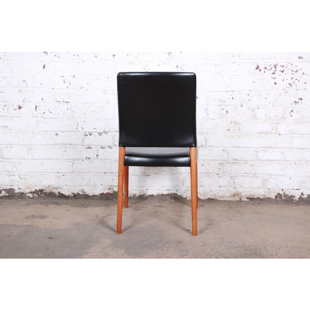Black Torbjorn Afdal Teak and Black Leather Dining Chairs, Set of Four For Sale - Image 8 of 11