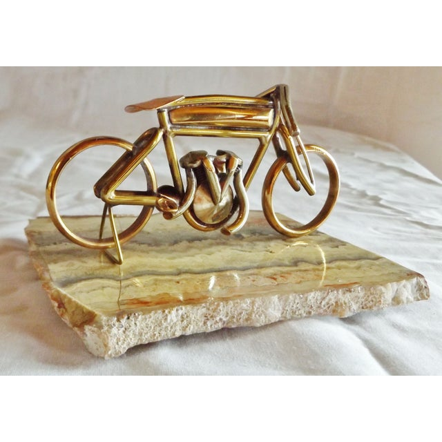 Brass Motorcycle Sculpture Cyclone Racer - Image 4 of 10