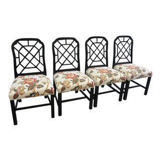 Vintage Fretwork Side Chairs - Set of 4