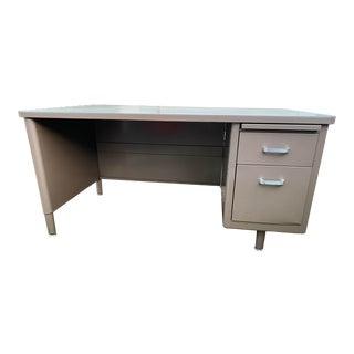 Vintage Mid-Century Modern Metal Executive Desk For Sale