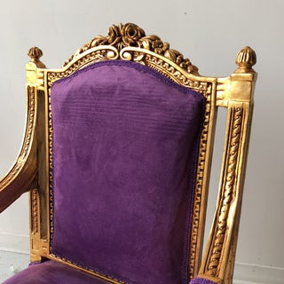 Vintage Purple Throne Chairs - a Pair Preview