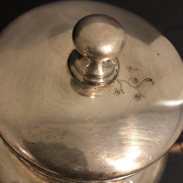 Metal Victorian Aurora Silver Plate Teapot For Sale - Image 7 of 13