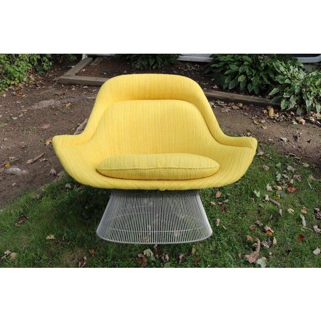 Warren Platner 1966 Vintage Warren Platner for Knoll International Easy Chair & Ottoman For Sale - Image 4 of 10