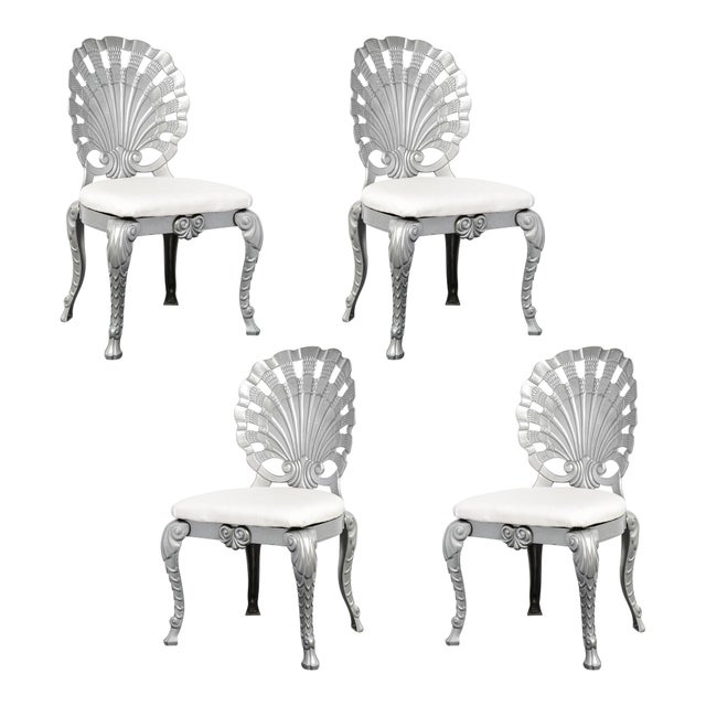 Vintage Set of 4 Grotto Aluminum Chairs For Sale - Image 13 of 13