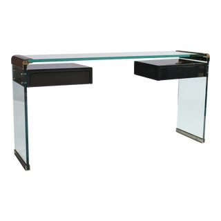 Pace Console Desk With Floating Drawers For Sale