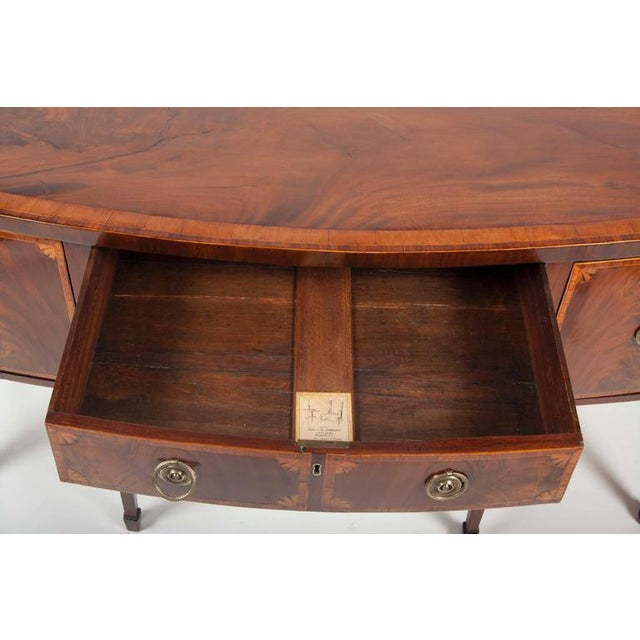 Brown Fine George III Mahogany and Satinwood Inlaid Sideboard For Sale - Image 8 of 10