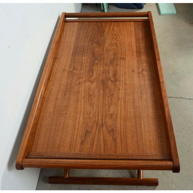 Modern Richard Wrightman Matthiessen Walnut Coffee Table For Sale - Image 9 of 10