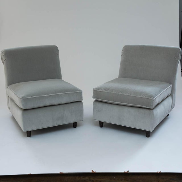 Mid-Century Slipper Chairs - A Pair - Image 2 of 10