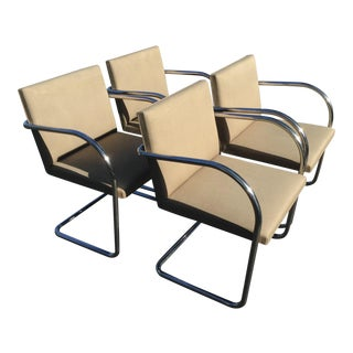 Set of 4 Knoll Tubular Brno Chairs For Sale
