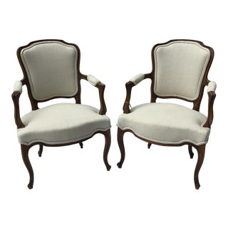 Vintage French Chairs - a Pair For Sale